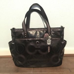 COACH Patent Leather Diaper Bag
